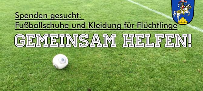 Sammlung: Fußballschuhe und Sportkleidung für Flüchtlinge